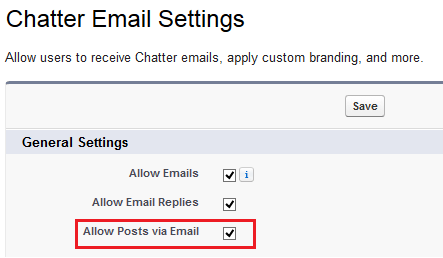Allow Users to Post to Chatter Groups via Email