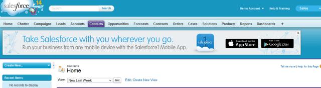 Salesforce Notification Banner