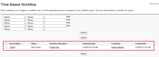Time-Based Workflow Queue