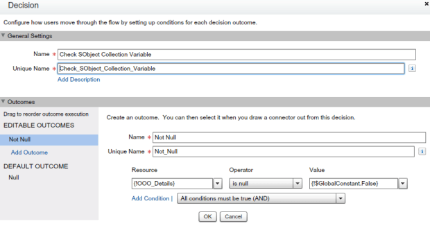 Decision Element - To Check SObject Collection Variable