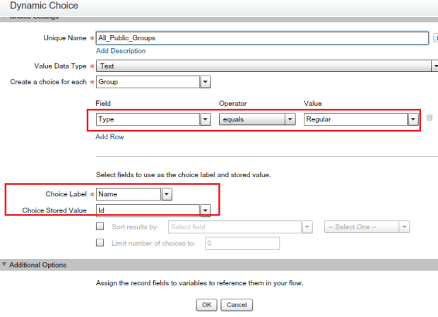 Dynamic choice Multi-select checkbox