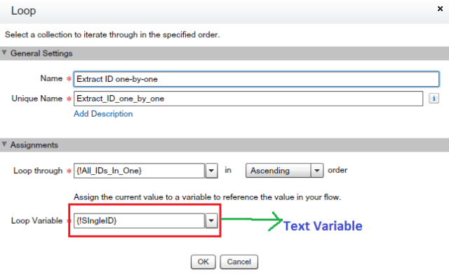 Extract IDs from Collection variable