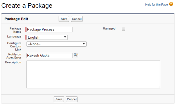Create a Package