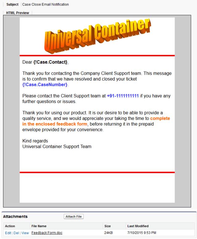 Email Template - Custom (Using Letterhead)
