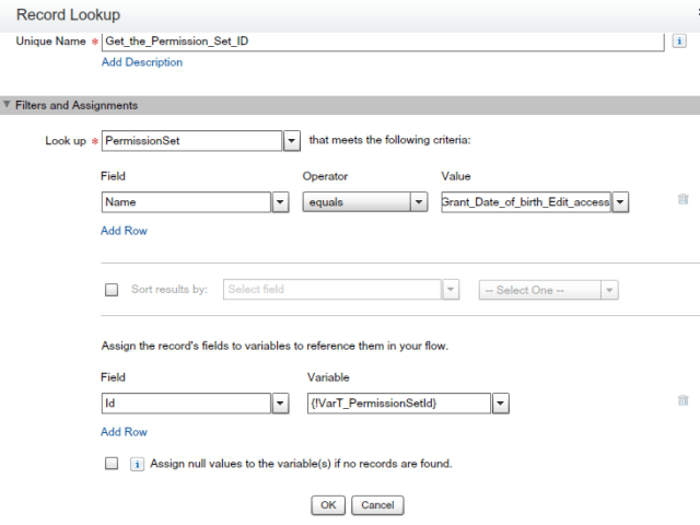 Record Lookup -To get the Permission Set ID