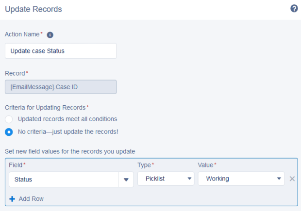 Add Action - Record Updates
