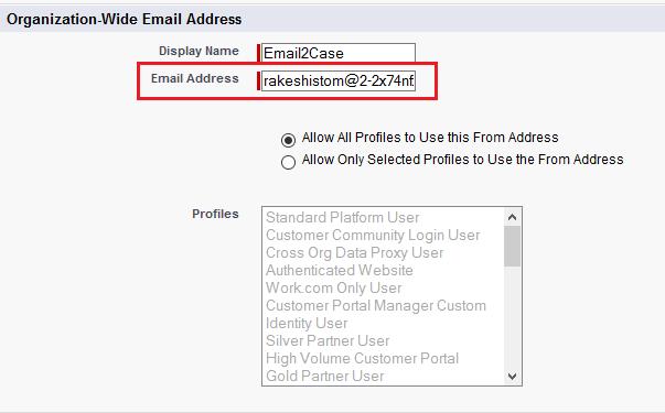 Organization-Wide Email Addresses