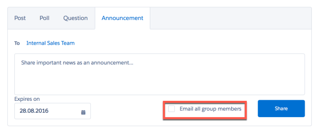 Email all group members