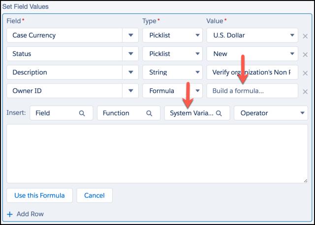 Create a Formula - Process Builder