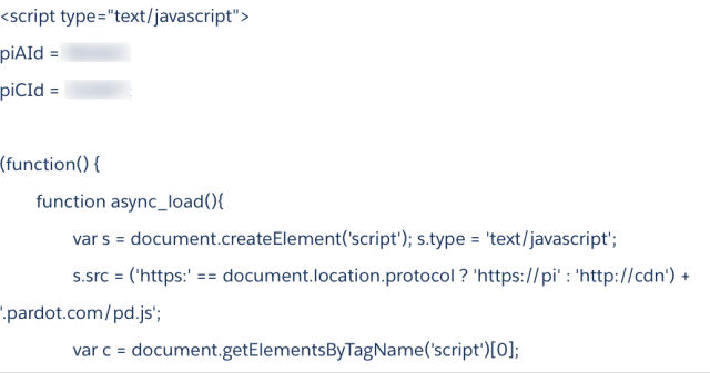 JavaScript Tracking Code