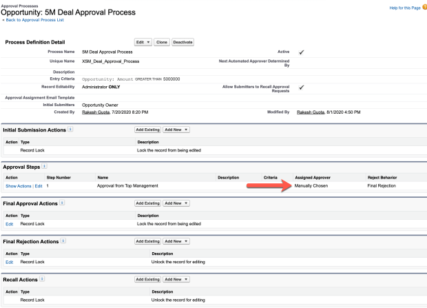 Process Builder 98.2 -Create an Approval process