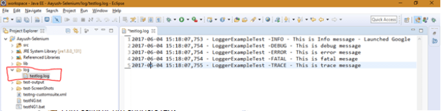 How to Configure Log4j in your project (Using Log4j properties file) ?