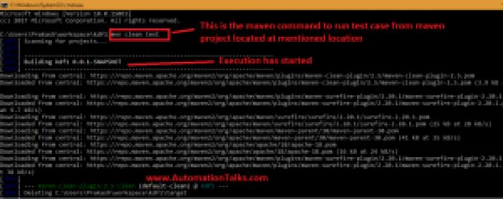 maven build process - Run maven commands from command prompt