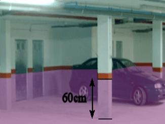 Zona peligrosa en garaje