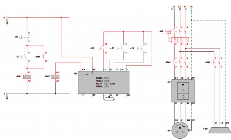 Control electrofreno  motor mediante variadores de frecuencia