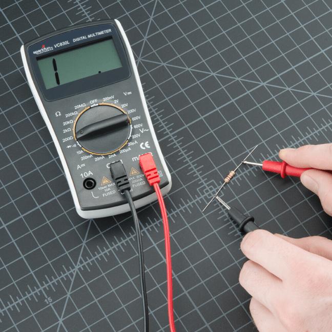 Medida de resistencia eléctrica sin tensión