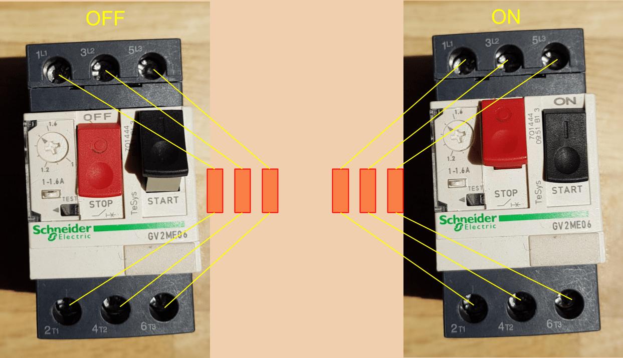 Comprobación magnetotérmico