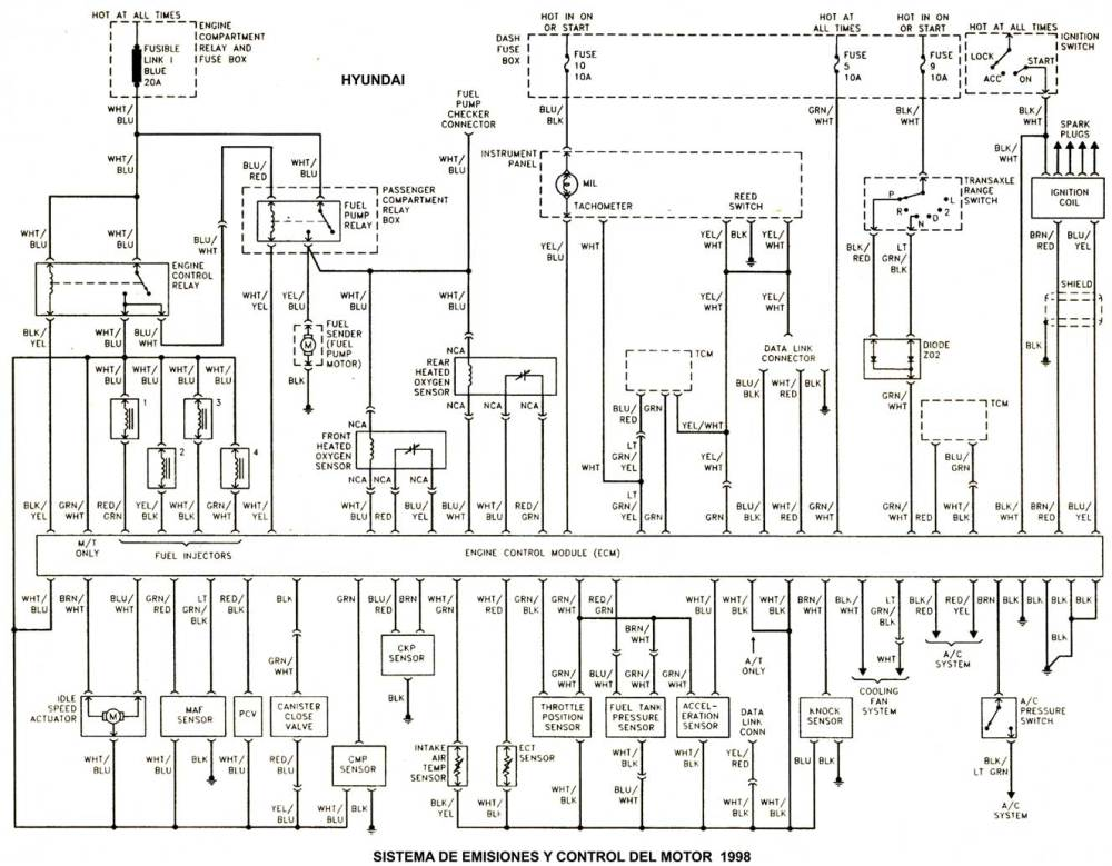 medium resolution of hyundai 1986 97 diagramas esquemas ubicacion de 1990 chevy 1500 ac wiring diagram 1990 chevy 1500
