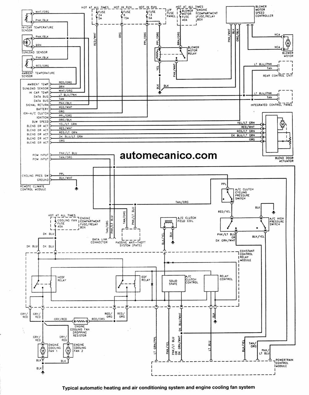 wiper motor wiring diagram ford 99 jeep wrangler fuse | diagramas, esquemas electricos, taurus. mecanica automotriz