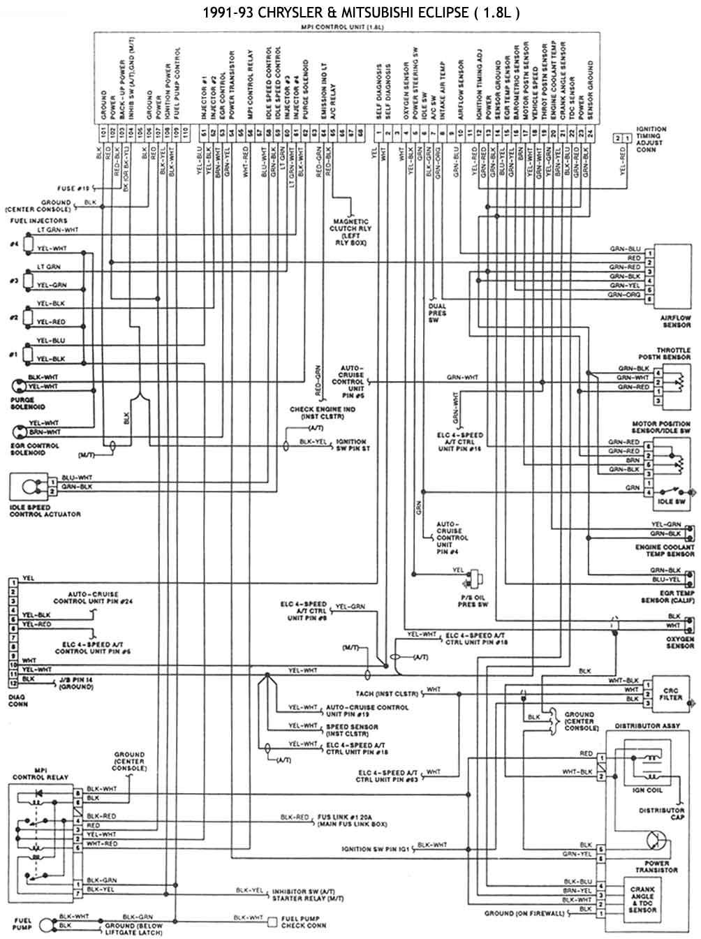 87 Chrysler Lebaron Wiring Diagram Chrysler Mitsubishi 1986 93 Diagramas Esquemas