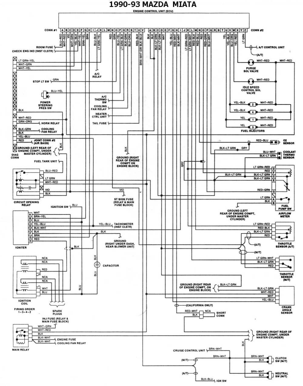 medium resolution of 1990 93 miata esquemas electricos