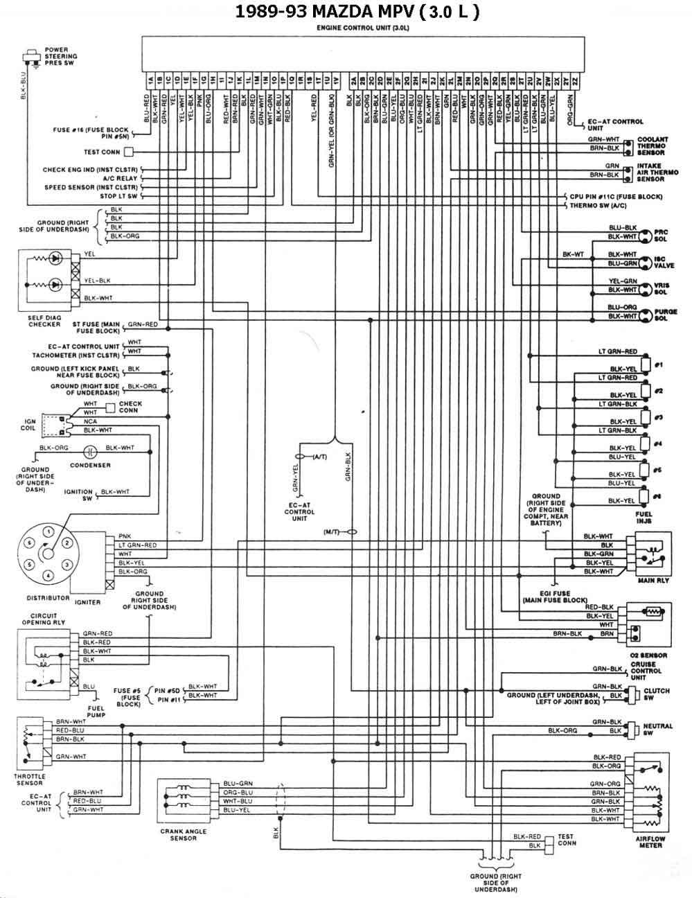 medium resolution of 1989 93 mpv 3 0l mazda