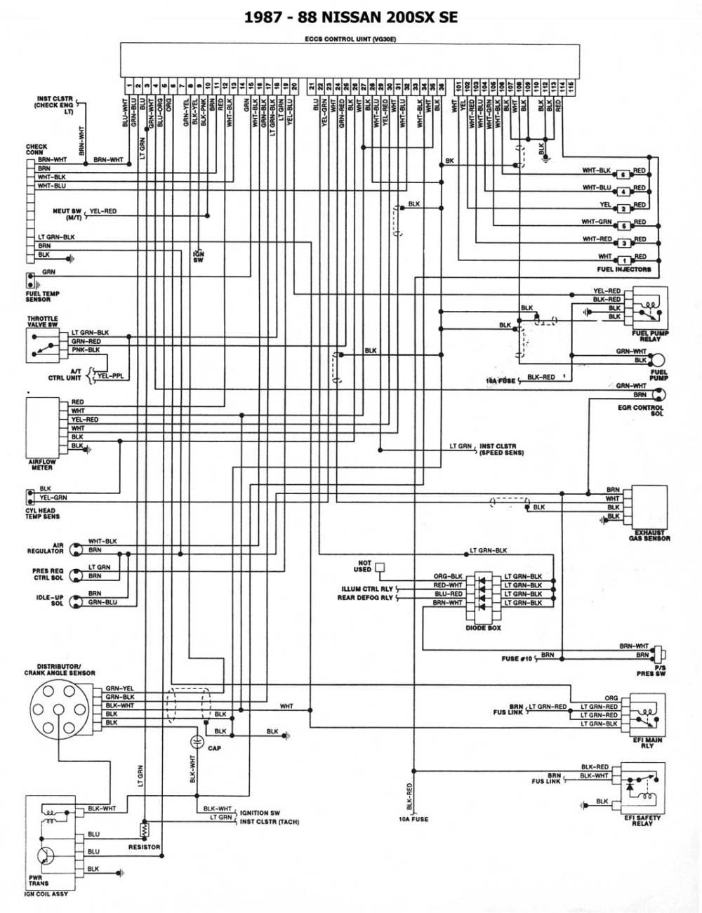 medium resolution of 1987 88 200sx se