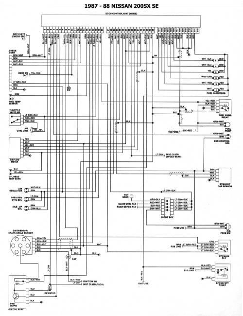 small resolution of 1987 88 200sx se