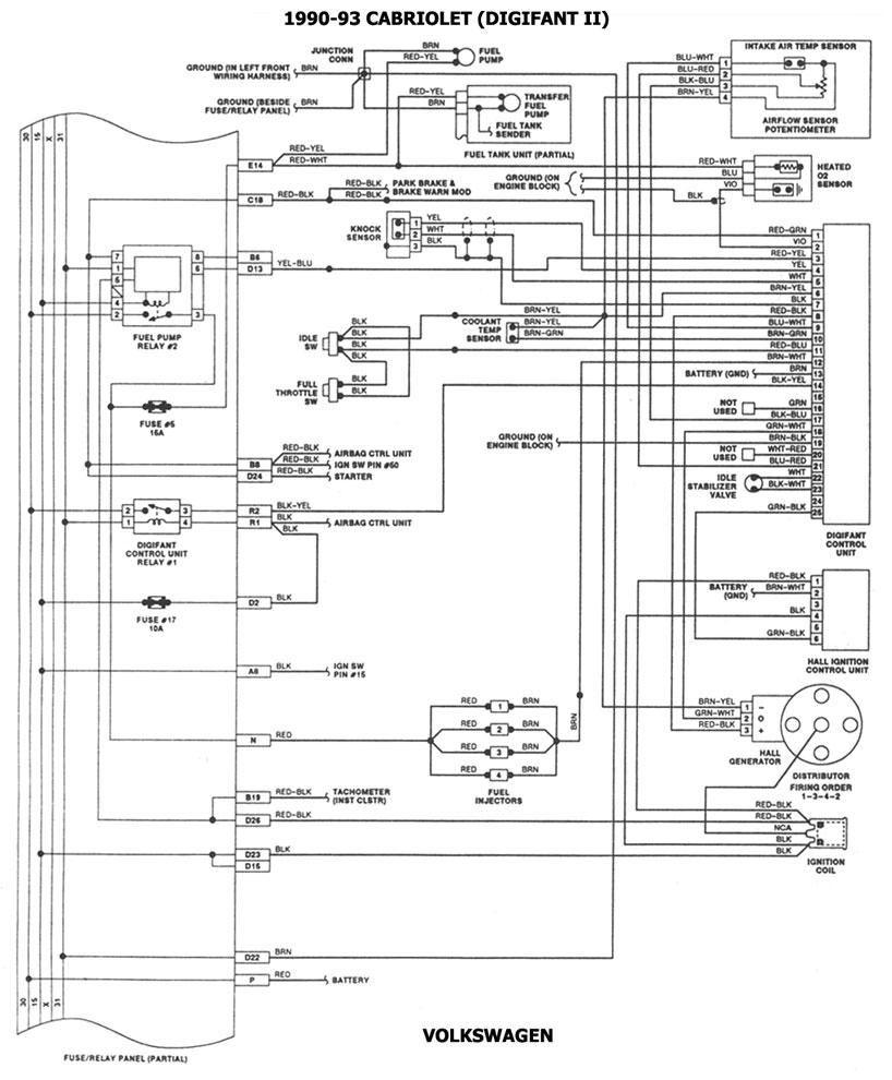 seat diagrama de cableado de la computadora