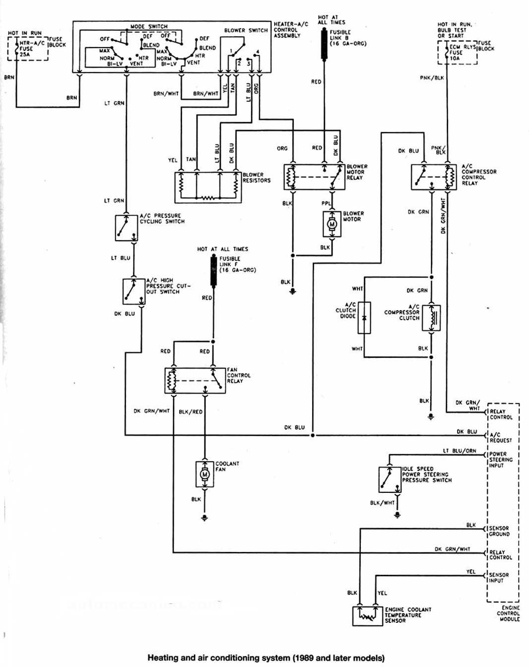 opel diagrama de cableado de series