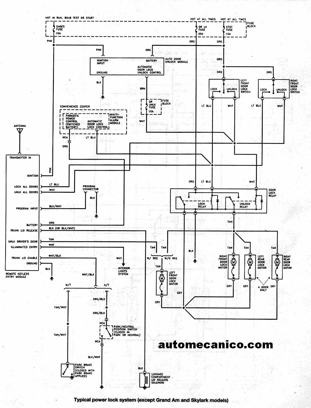 Buick Skylark Diagrama De Cableado