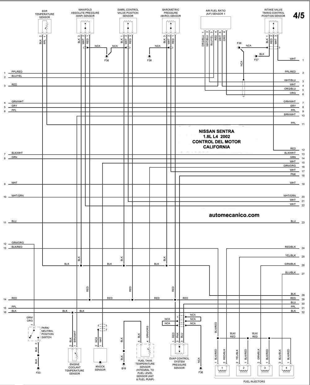 medium resolution of de tiempo nissan sentra 2002 on nissan altima 2001 2 4 engine diagram symbols moreover diagrama de nissan sentra 2001