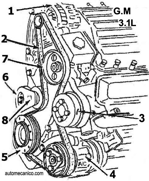 Chevrolet 3 4l Engine Diagram 2.5L Engine Diagram