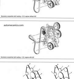 chevrolet pick up s10 orden de encendido g motors pick up y sonoma 2 2l y 4 3l serpentine belt routing [ 750 x 1206 Pixel ]