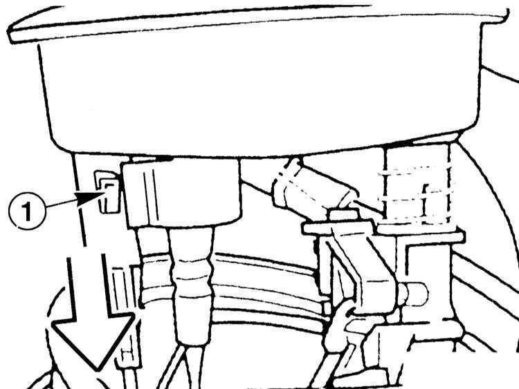 Ремонт БМВ 3 : Снятие и установка датчика запаса топлива