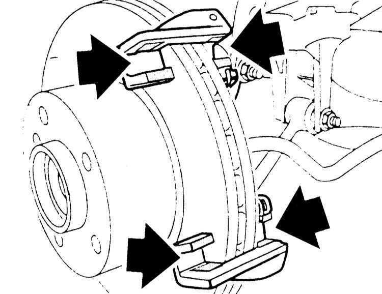 Ремонт БМВ 3 : Снятие и установка тормозных колодок