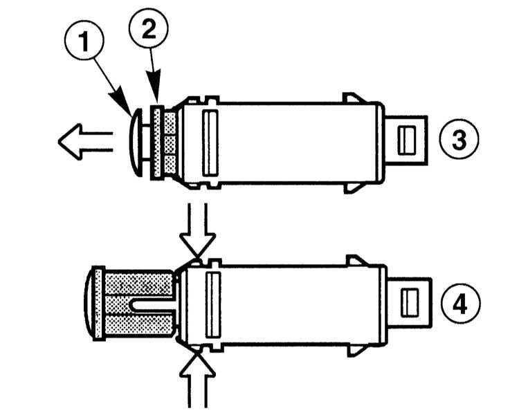 Ремонт БМВ 3 : Снятие и установка выключателя стоп-сигнала
