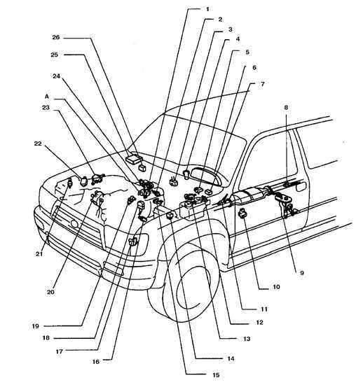 Ремонт Тойота 4 раннер : Расположение устройств систем