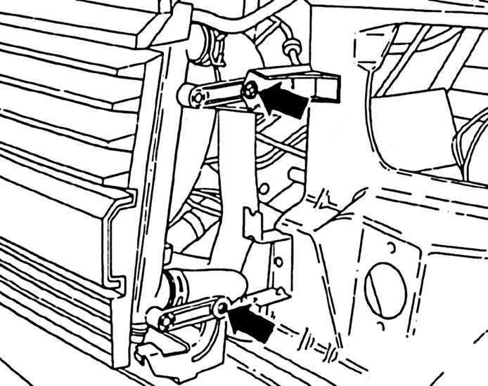 Ремонт Фольксваген Транспортер : Снятие радиатора VW T4
