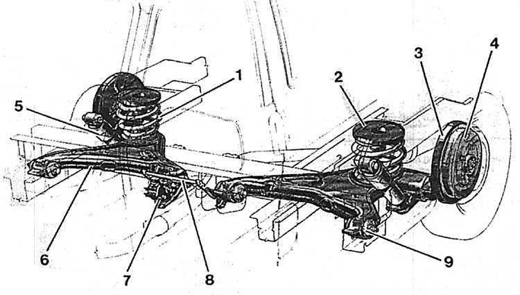 Ремонт Фольксваген Транспортер : Задняя подвеска VW T4