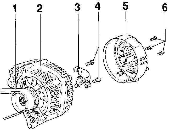 Ремонт Фольксваген Пассат : Генератор VW Passat B5
