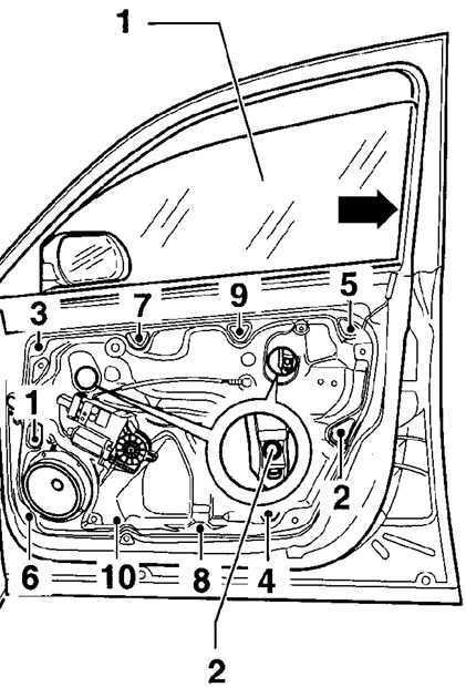 Ремонт Фольксваген Пассат : Стекло двери VW Passat B5