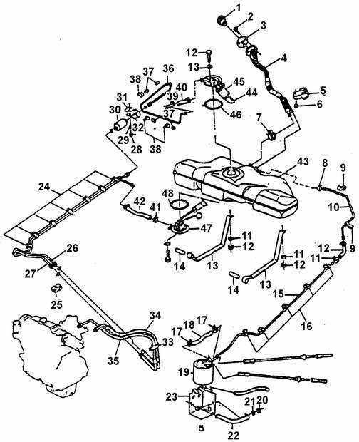 Ремонт Дэу Нексия: Топливная и выхлопная системы Daewoo