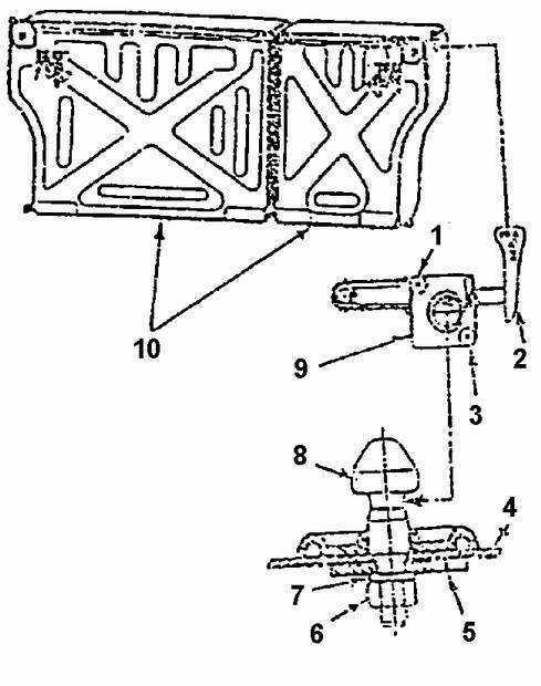 Ремонт Дэу Нексия : Запорное устройство спинки заднего
