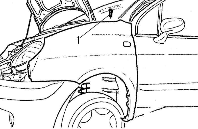 Ремонт Дэу Матиз : Снятие и установка элементов передней