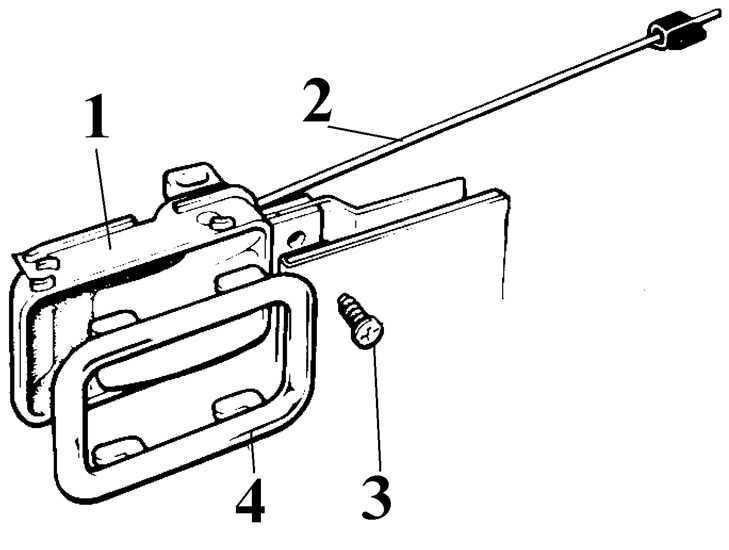 Ремонт Форд Эскорт : Снятие и установка внутренней ручки