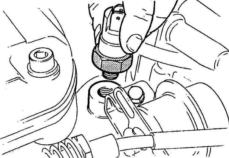 Ремонт Форд Скорпио : Снятие и установка температурного