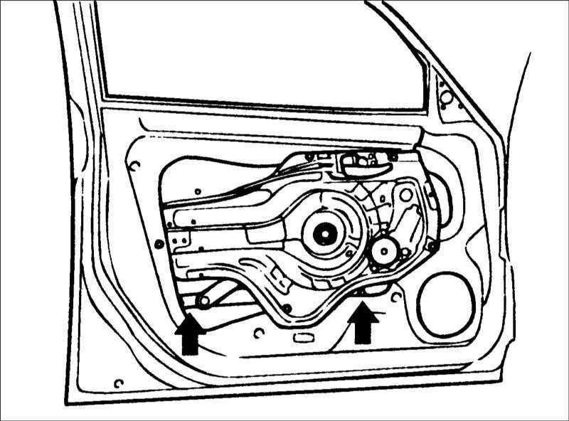 Ремонт Хендай Элантра : Передняя дверь Hyundai Elantra