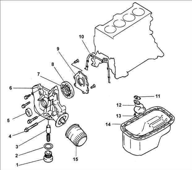Ремонт Хендай Акцент : Масляный насос двигателя SOHC