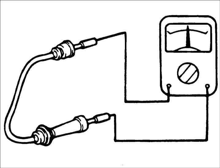 Ремонт Хендай Акцент : Проверка высоковольтных проводов